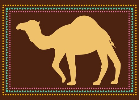 Greeting Beautiful card with camel