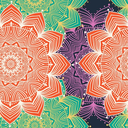 indian art: Ornament beautiful pattern with mandala. Geometric circle element