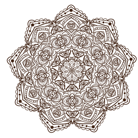 white card: Ornament black white card with mandala.
