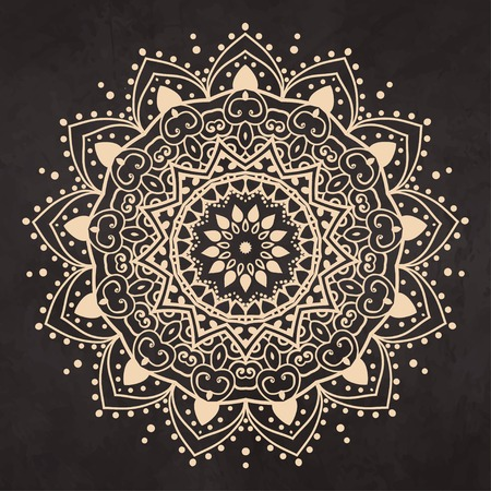 mandala: Ornament black white card with mandala. Geometric circle element made in vector. Perfect  cards for any other kind of design, birthday and other holiday, kaleidoscope,  medallion, yoga, india, arabic