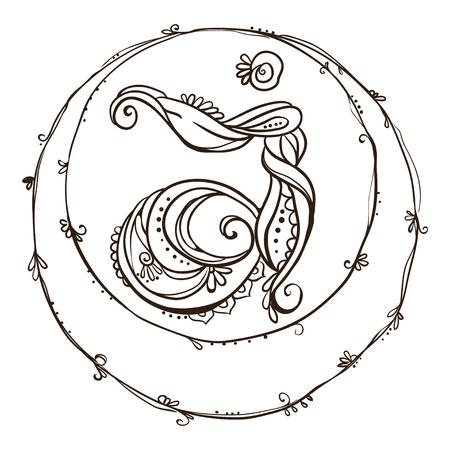 ajna: Ornament card with chakra. Geometric element hand drawn. Perfect  cards for any other kind of design, yoga center, class, Muladhara,Manipu,r Anahata, Vishudha, Ajna, Sahasrara, swadhistana