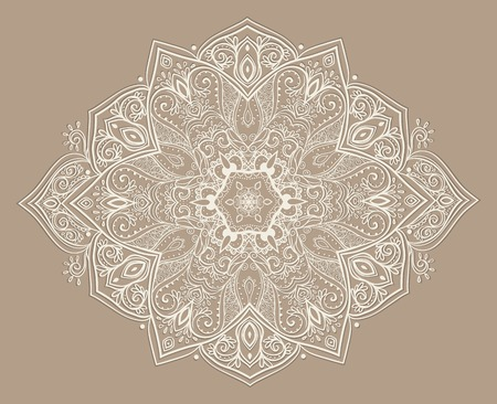 lotus petal: Ornament beautiful card with mandala. Geometric circle element made in vector. Perfect  cards for any other kind of design, birthday and other holiday, kaleidoscope,  medallion, yoga, india, arabic