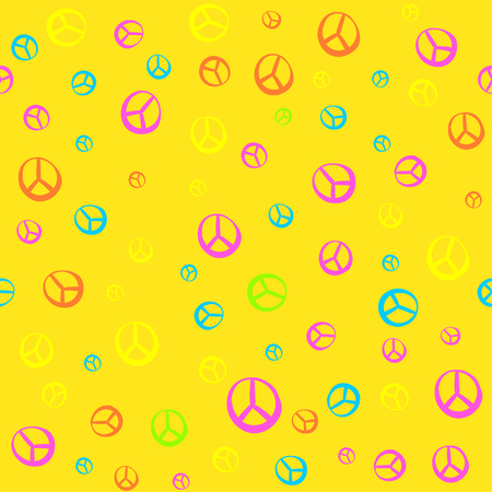 60's: The pattern in the style of Hippie - 60s 70s. Psychedelic texture, bright colors. Fun pattern for children and adults. Simple pattern