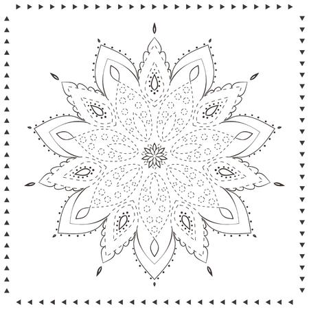 Ornamento Tarjeta Hermosa Con Mandala. Páginas Para Colorear ...