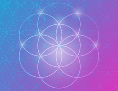 Vector geometrische achtergrond is. Bright patroon. Heilige geometrie, bloem van het leven.