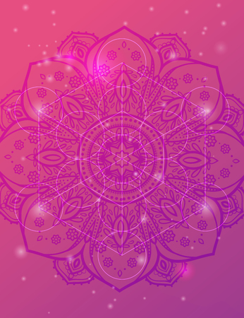 peaceful background: Vector geometric background is. Bright pattern. Sacred geometry, flower of life.