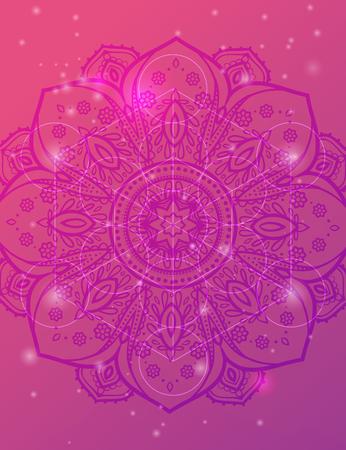 Vector sfondo geometrico è. modello luminoso. La geometria sacra, fiore della vita.