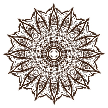 chakra: Ornament beautiful  card with mandala. Geometric circle element made in vector. Perfect  cards for any other kind of design, birthday and other holiday, kaleidoscope,  medallion, yoga, india, arabic Illustration