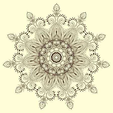 wallpaper flower: Ornament black white card with mandala. Geometric circle element made in vector. Perfect  cards for any other kind of design, birthday and other holiday, kaleidoscope,  medallion, yoga, india, arabic