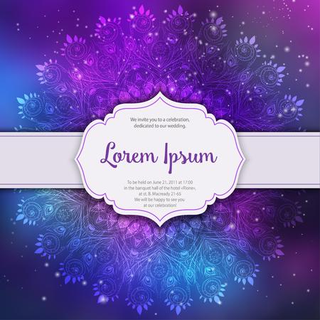 Ornament Invitation Card With Mandala Geometric Circle Element