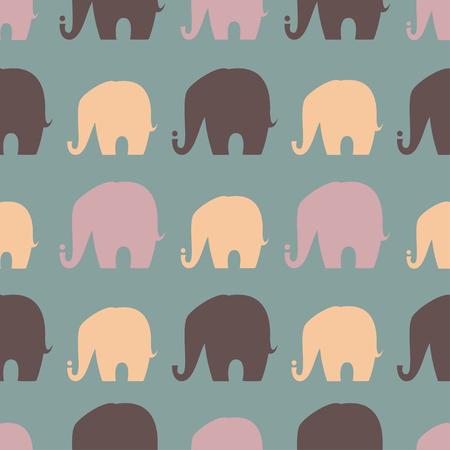 Saluto Bella carta con Elephant. Telaio di animali fatto nel vettore. Elephant Illustrazione per la progettazione, modello, tessuti. Mappa disegnata a mano con Elephant.