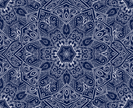 indian art: Ornament beautiful pattern with mandala. Geometric circle element made in vector. Perfect cards. Kaleidoscope,yoga, india, arabic Illustration
