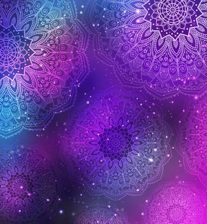 papel tapiz: tarjeta de invitación con el ornamento de la mandala. círculo elemento geométrico hecho en vector. Mandala para la decoración de tarjetas día de fiesta, de fondo y sitios. Kaleidoscope, medallón, el yoga, la India, árabe