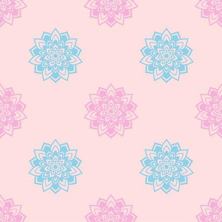 indische muster: Ornament sch�ne Muster mit Mandala. Geometrische Kreis-Element im Vektor. Perfekte Karten f�r jede andere Art von Design, Websites, Geburtstag und andere Urlaub. Kaleidoskop, yoga, indien, Arabisch Illustration