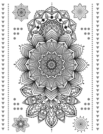 bracelet tattoo: Mandala set and other elements. Vector. Mandala tattoo. Perfect  cards for any other kind of design, birthday and other holiday, kaleidoscope,  medallion, yoga, india, arabic Illustration
