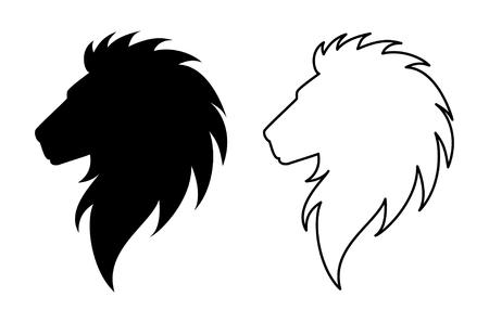 Groet Mooie kaart met leeuw. Frame van dierlijke gemaakt in vector. Tiger Illustratie voor ontwerp, patroon, textiel. Hand getekende kaart met leeuw. Gebruiken voor kinderkleding, pyjama's, websites Vector Illustratie