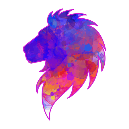 Salutation Belle carte avec le lion. Cadre de l'animal fait dans le vecteur. Tiger Illustration pour la conception, motif, textiles. Hand drawn carte avec le lion. Utilisez des vêtements, des pyjamas, des sites Web pour les enfants