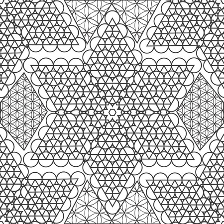 esoterics: Vector geometric  sacred Bright pattern. Sacred geometry, flower of life. Bright psychological background. Journey into space. Use for prints, textiles, printing, web sites.