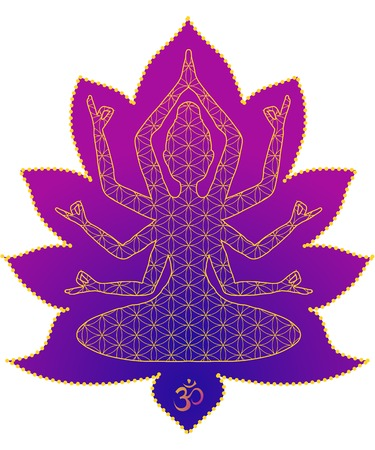 joga: Yoga is a set of different spiritual, mental and physical practices beautiful card with Vector yoga.
