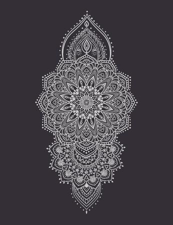Mandala set en andere elementen. Vector. Mandala tattoo. Perfect kaarten van het ontwerp, verjaardag en andere vakantie, caleidoscoop, medaillon, yoga, india, arabische. cirkelvormig patroon schets voor tattoo