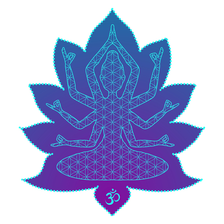 karma: Yoga is a set of different spiritual, mental  physical practices beautiful card with Vector yoga Card for design textile textures lo os  Yoga is Raja Yoga Karma Yoga Jnana Yoga Bhakti Yoga Hatha Yoga
