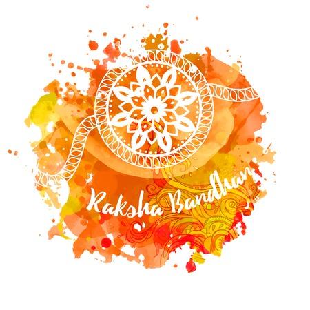auspicious: Raksha Bhandhan invitation cards with lace ornament. Brother and sister festival in India. Is also called Rakhi Purnima religious festival, Happy Raksha Bandhan celebration