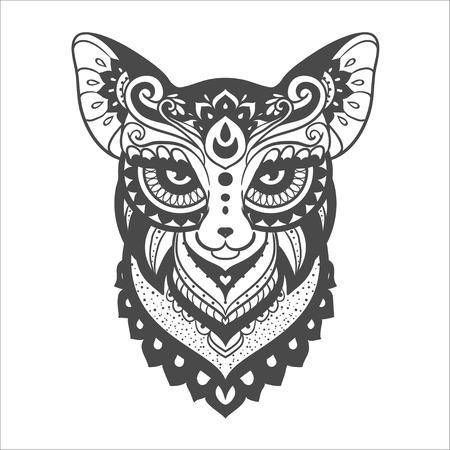 Fox Ornamento. Ilustración Hermosa Para El Diseño, La Ropa De ...