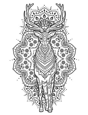 Vector De Los Ciervos Ornamento. Ejemplo Hermoso De Los Ciervos Para ...