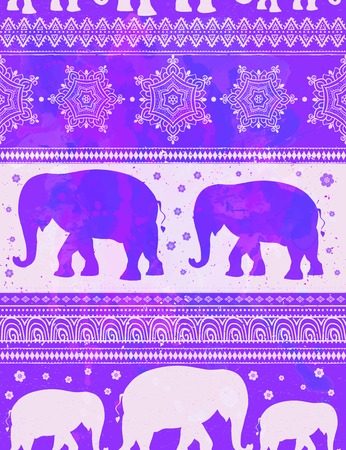 the children s: Card with Elephant. Frame of animal made in vector. Pattern Illustration for design, pattern, textiles. Hand drawn map with Elephant. Use for children s clothes, pajamas