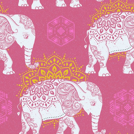 the children s: Cute pattern with Elephant. Frame of animal made in vector. Elephant Illustration for design, pattern, textiles. Hand drawn map with Elephant. Use for children s clothes, pajamas, web sites