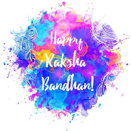 religious celebration: Raksha Bhandhan invitation cards with lace ornament. Brother and sister festival in India. Is also called Rakhi Purnima religious festival, Happy Raksha Bandhan celebration