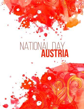 cognizance: National Day in Austria. Vector illustration festive banner flag Illustration