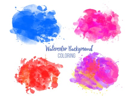 Watercolor coloring background