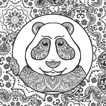 Ilustración Vectorial Panda. Imprimir Para La Ropa, Tarjetas, Banner ...