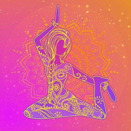 tantra: Beautiful vector card