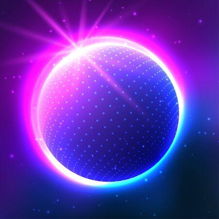 celestial body: Beautiful vector card.