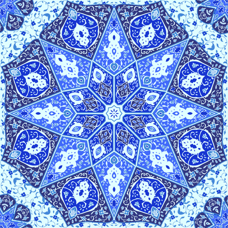 Islamic floral pattern  in Victorian style.Ornamental for Card. Use for posters, covers, flyers, postcards, banner designs, travel. India, Arabic Dubai turkish Islam 矢量图像