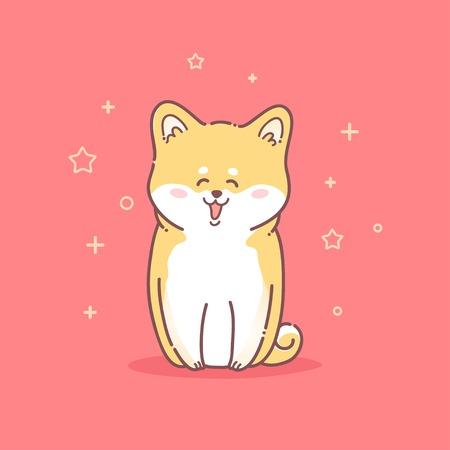 akita: Beautiful vector card