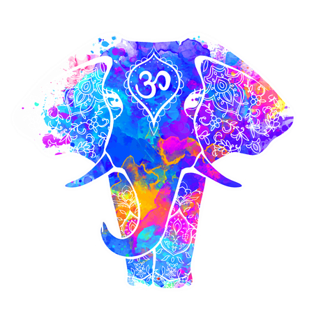 Beautiful vector card with elephant element