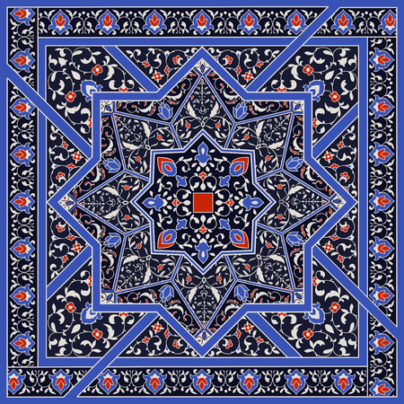 Islamic or indian floral pattern in Victorian style.