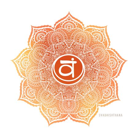 Chakra symbol coloring vector illustration. For logo yoga healing