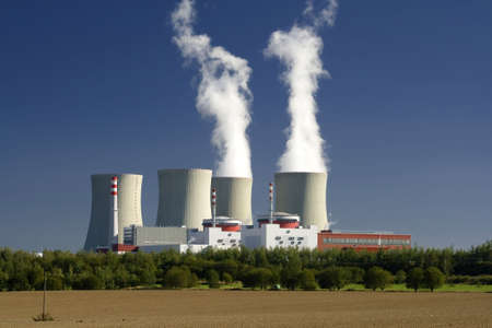 heat radiation: view to nuclear power plant