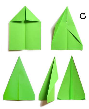 Montage Verfahren Papier Flugzeug Standard-Bild - 3623870