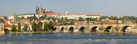 czech culture: Prague - view to Charles Bridge and Prague castle