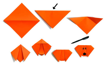 Assembly-Verfahren von Papier Welpe Standard-Bild - 3662143