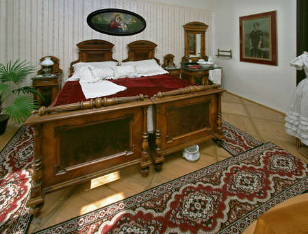 view to a historical bedroom photo
