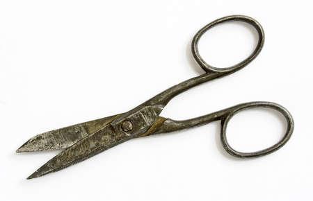 snip: vintage rusty scissors Stock Photo