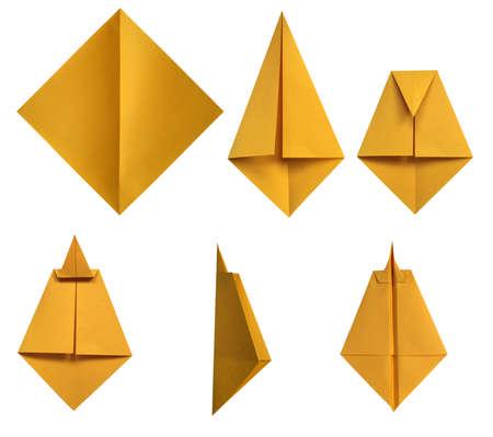 Montageverlaufes von Paper plane Standard-Bild - 8892405