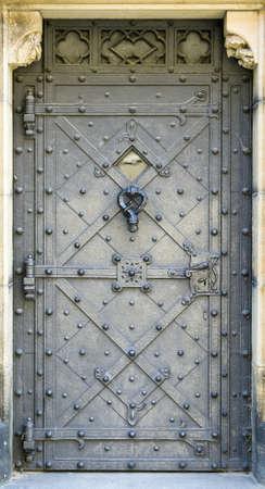 medieval church metal door photo