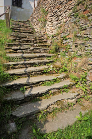 old stony stairs leading to a church